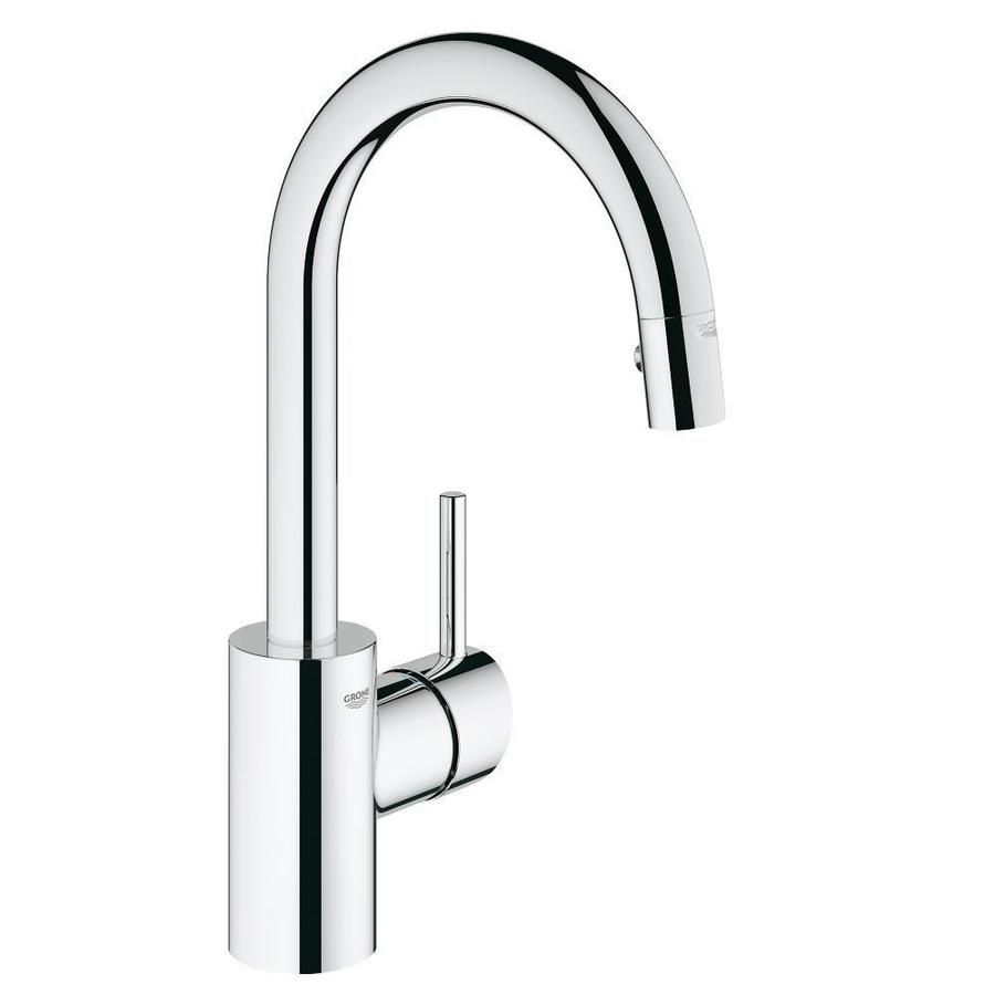 Grohe Concetto Chrome 1 Handle Deck Mount Pull Down Kitchen Faucet 31479000 In 2020 Faucet Chrome Prep Kitchen