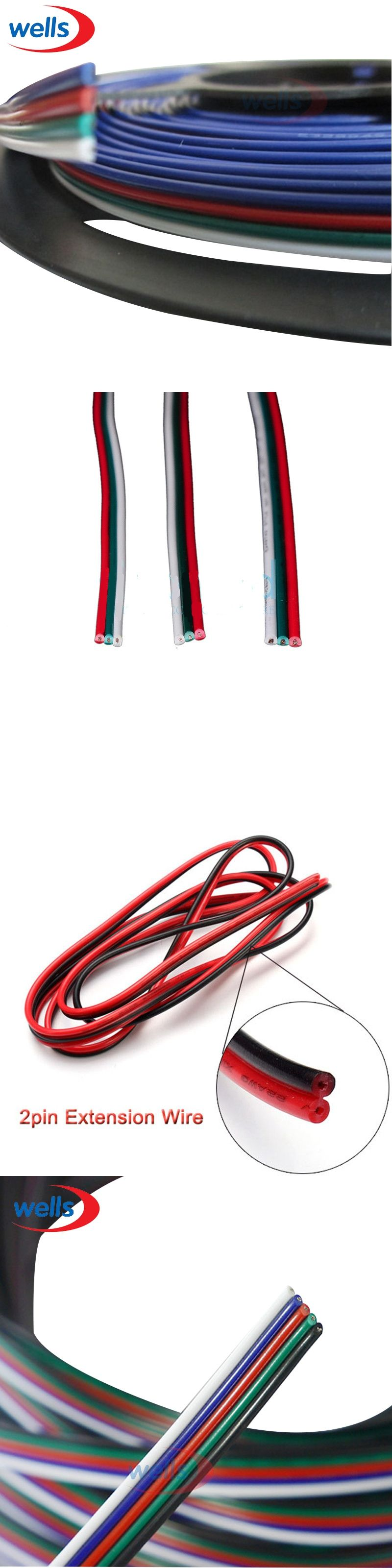 2m 5m 10m 2pin Wire 3pin 4pin 5pin Extension Wire22 Awg 4 Pin Led Wiring