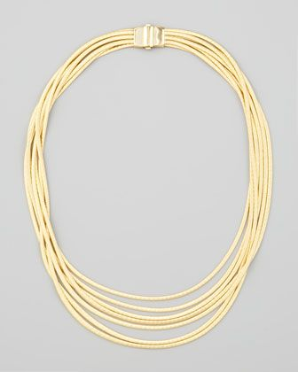 Marco Bicego Cairo 18k Seven-Strand Necklace xvdpA