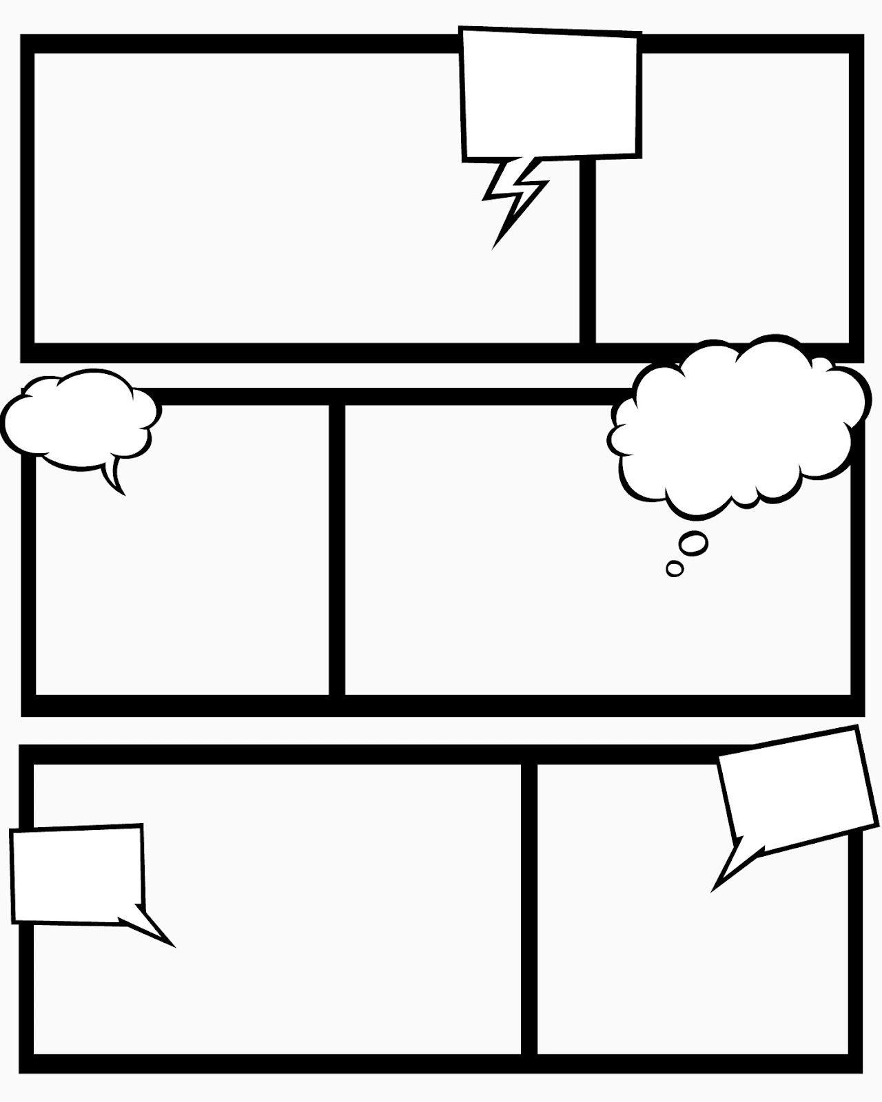 Sweet Hot Mess Free Printable Comic Book Templates And This Blogger Uses Them To Teach Her Kids About Story Structure Etc Very Cool