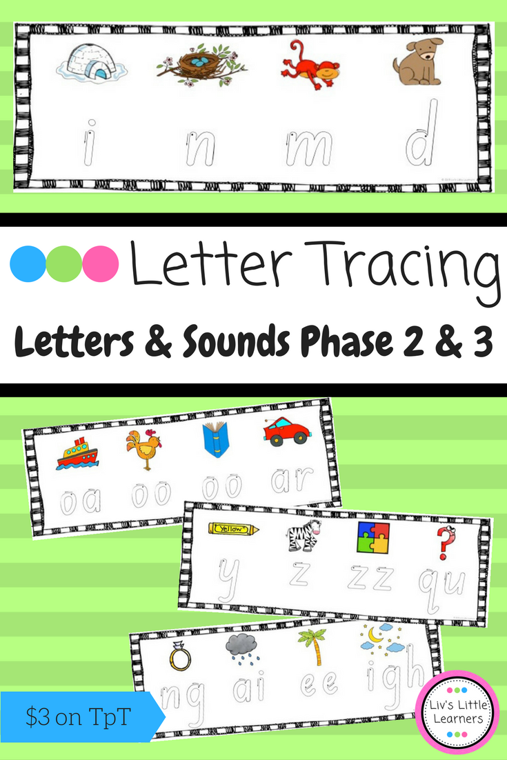 Letters and Sounds Phase 2 & 3 Letter Formation Tracing Cards ...