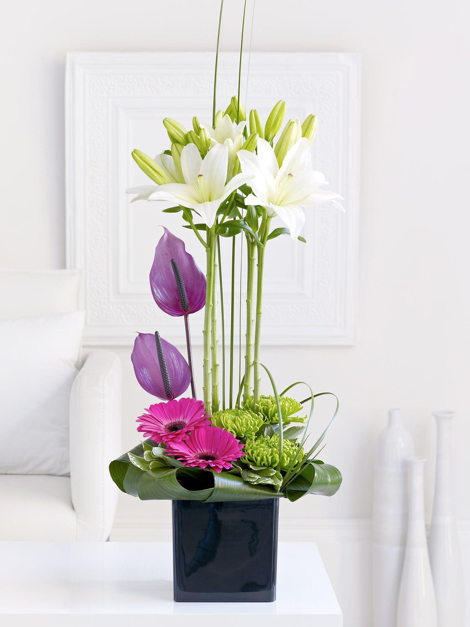 Lily And Anthurium Arrangement Interflora Floral Art