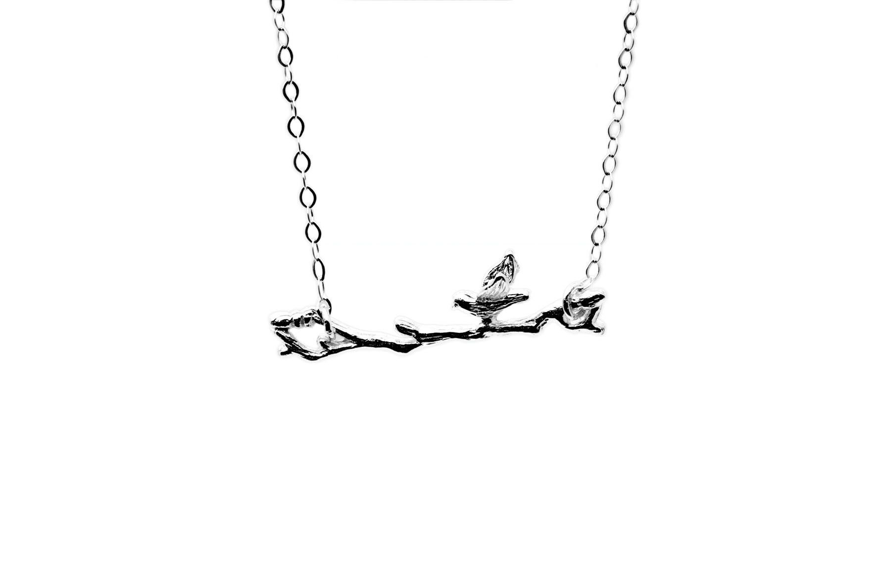 Branch And  A Bird Necklace