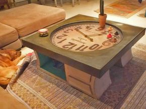Table Basse Horloge En Carton Tables Salon De Recup Meuble En