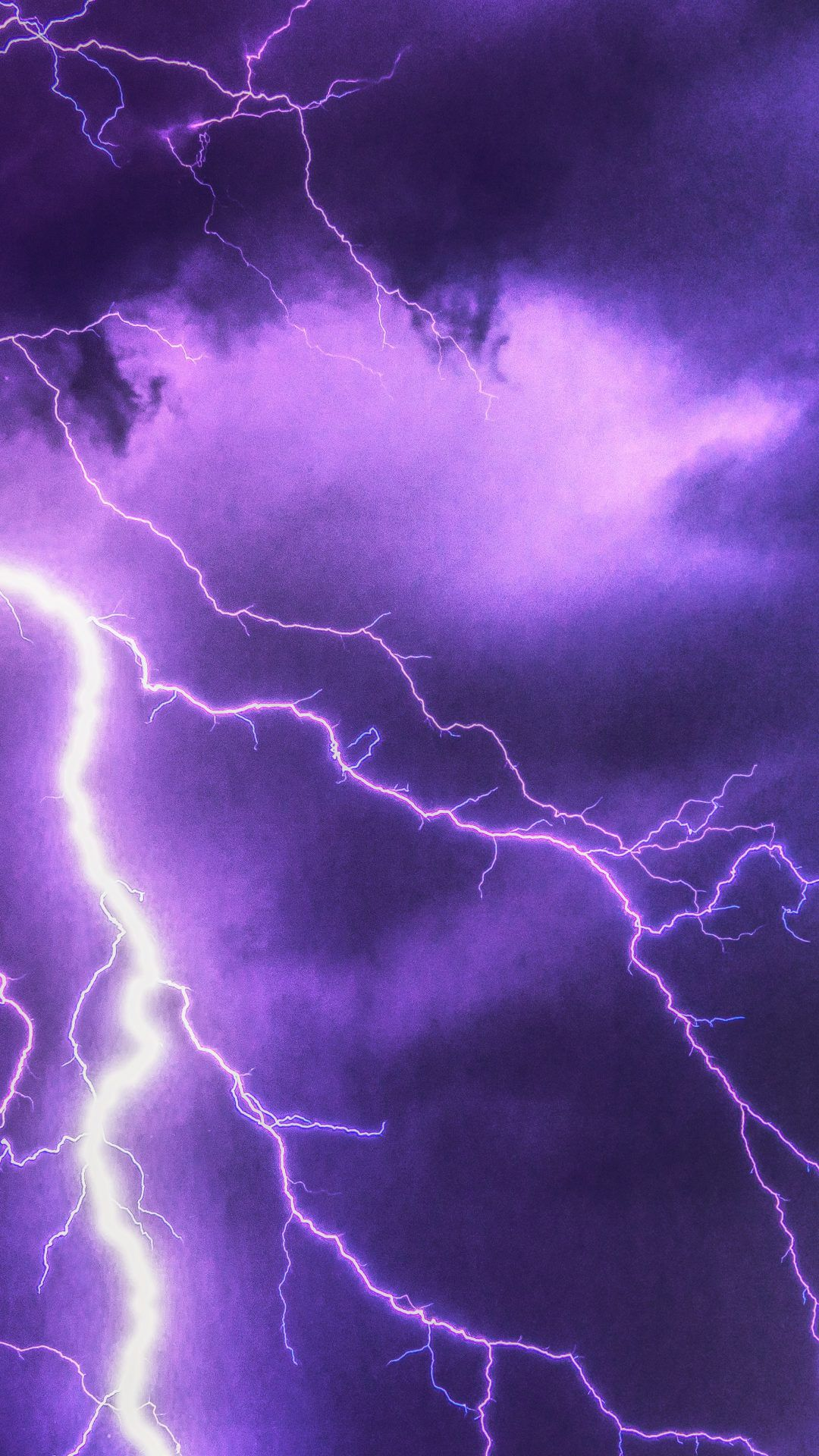 Purple Lightning 6K UHD Wallpaper Purple lightning