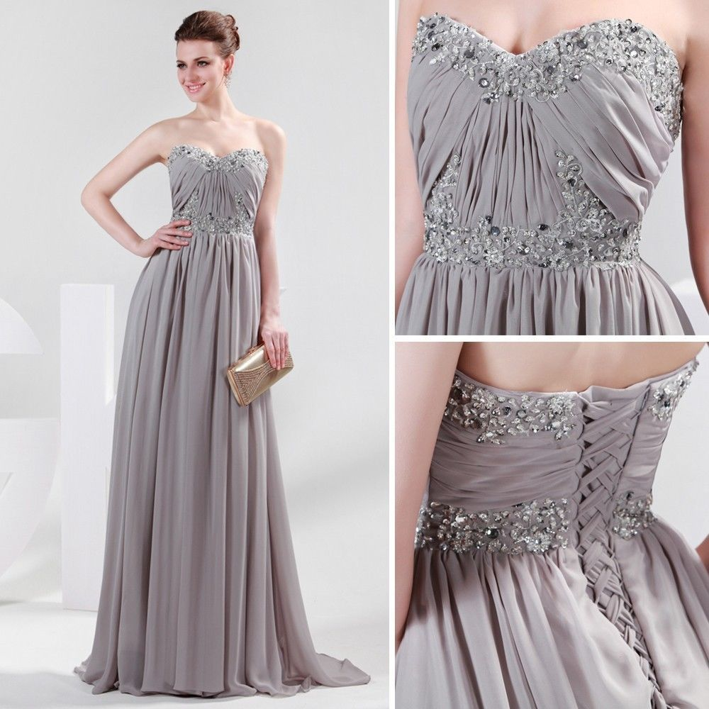 New lady chiffon formal prom wedding party evening cocktail maxi