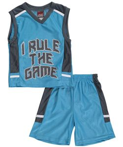 "68e9e9f545af Mad Game Little Boys  ""I Rule the Game"" 2-Piece Outfit (Sizes 4 – 7)  5.99  Get your little athlete into this 2-piece from Mad Game!"