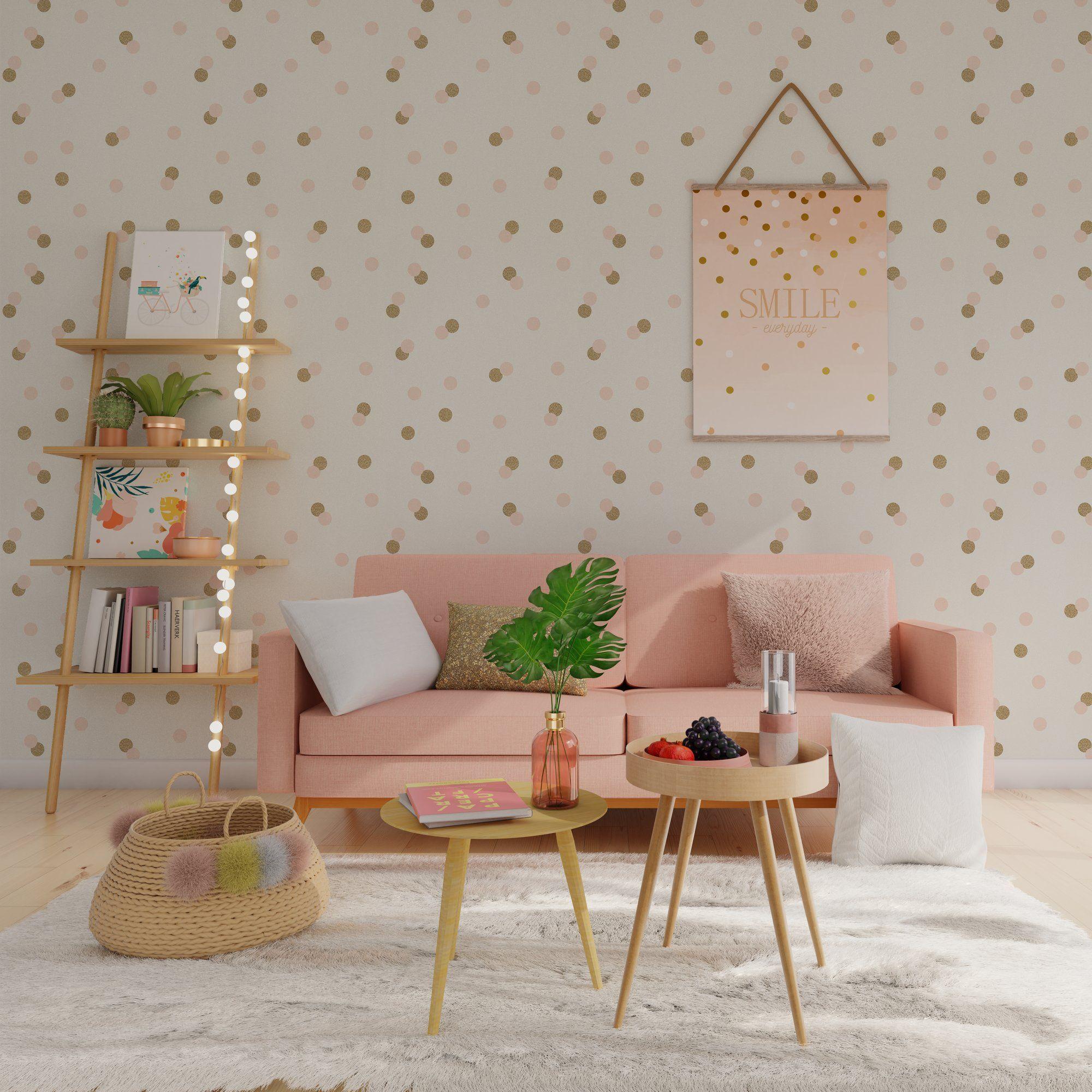 Papier Peint Intisse Confettis By Nymphea S Factory Coloris Blanc