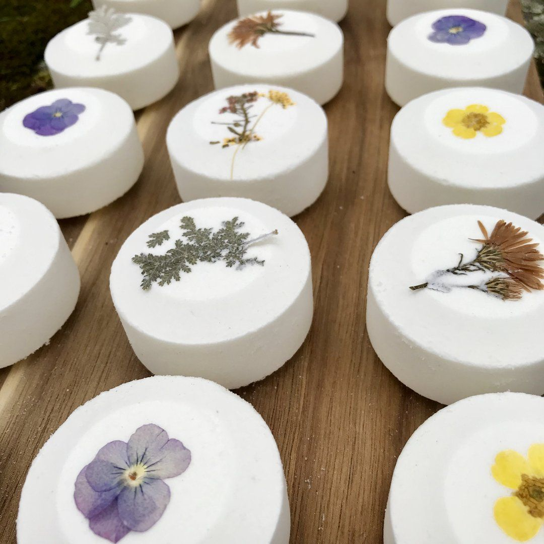 Wildflowers All Natural Handmade Bath Fizzie with Shea And