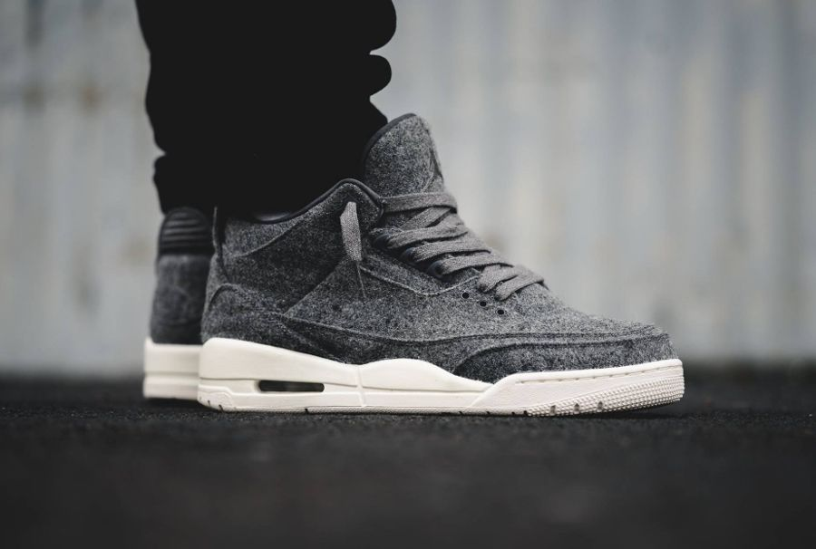 new styles 79708 c1a81 Nike Air Jordan 3 Retro Wool BG Youth Basketball Shoes Dark Grey Sail  Nike   Athletic   Jordan Shoes in 2019   Pinterest   Jordans, Air jordans and Air  ...