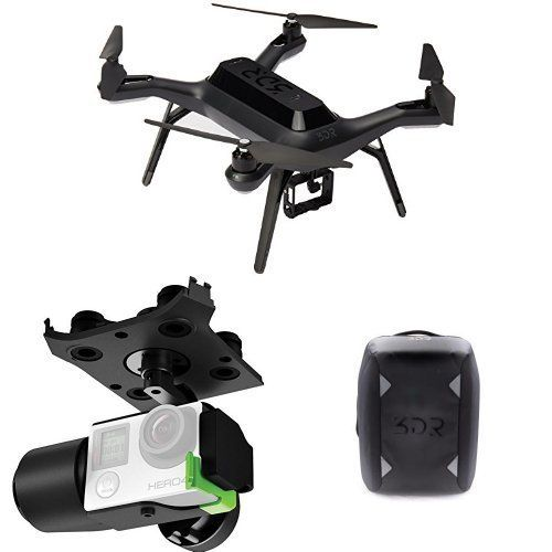 3DR Solo Drone Quadcopter w Gimbal and Backpack Certified