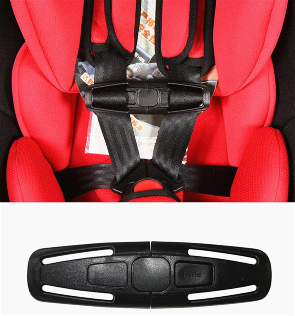 Car Baby Seat Safety Strap Chest Harness Clip Durable Black Safe Buckle Lock Belt For Children Kids