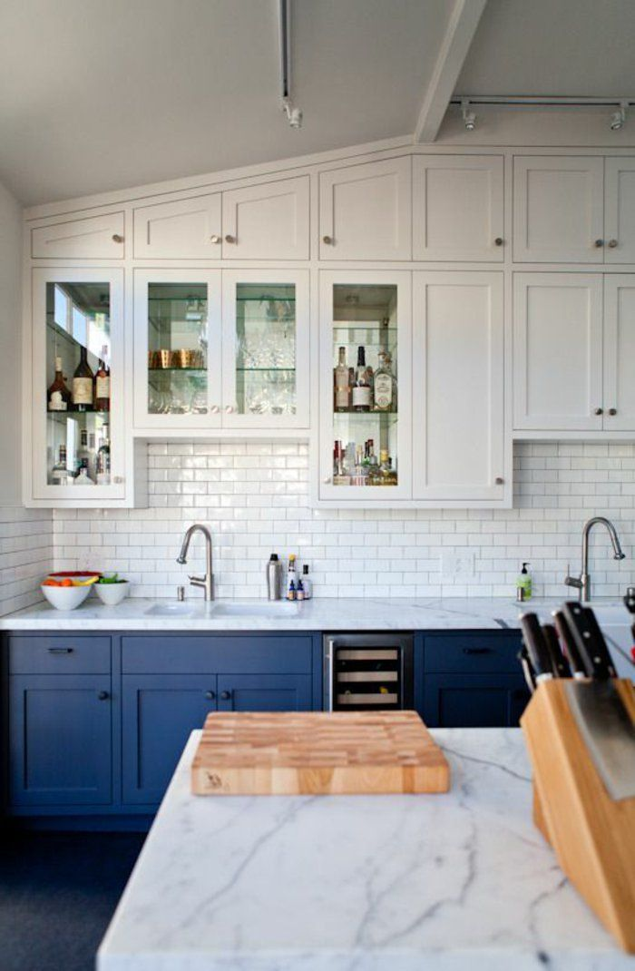 53 variantes pour les cuisines blanches! Wall trim, Kitchens and