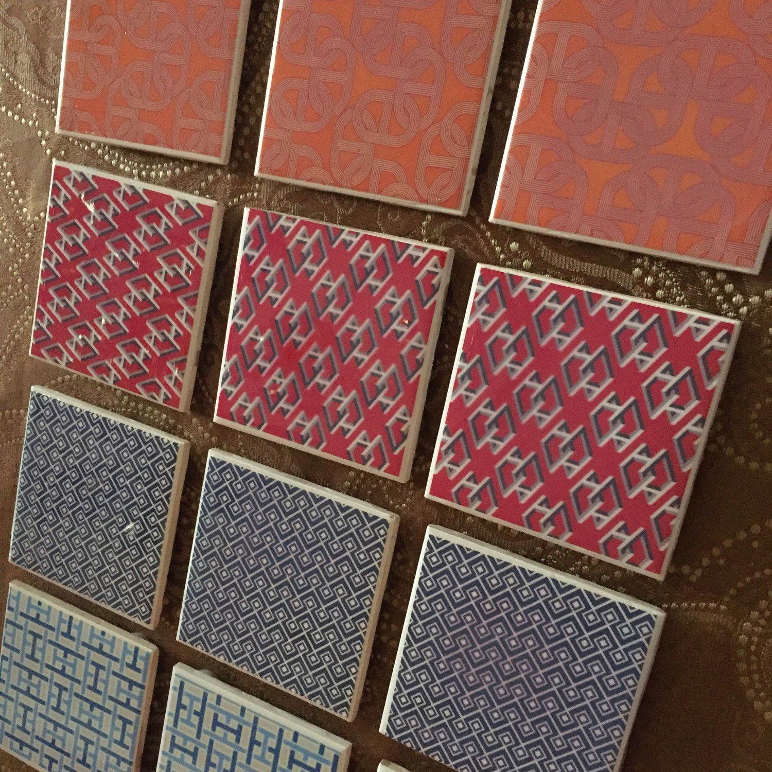 Hermes themed coasters batch! Great gift for the holidays!