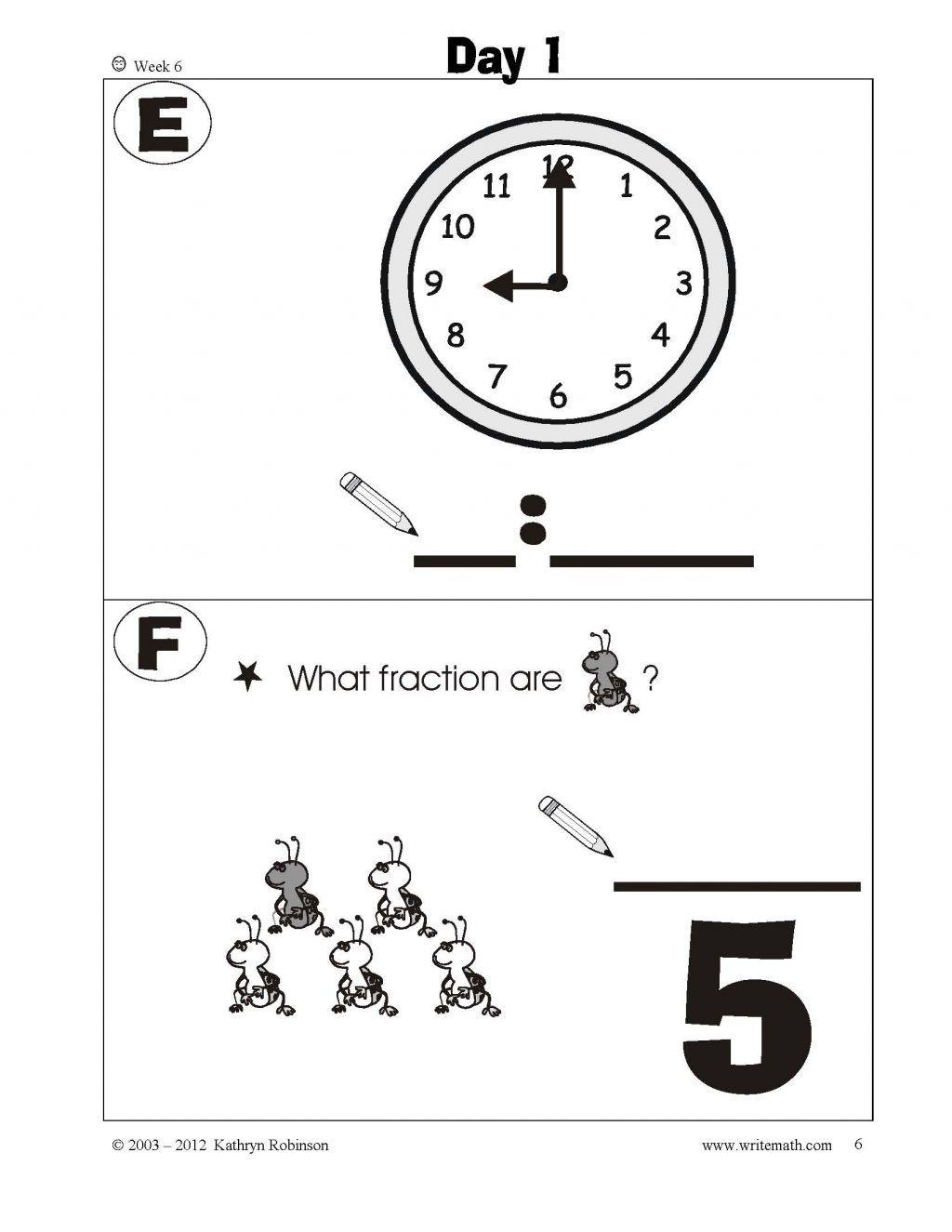 1st Grade Time Worksheets