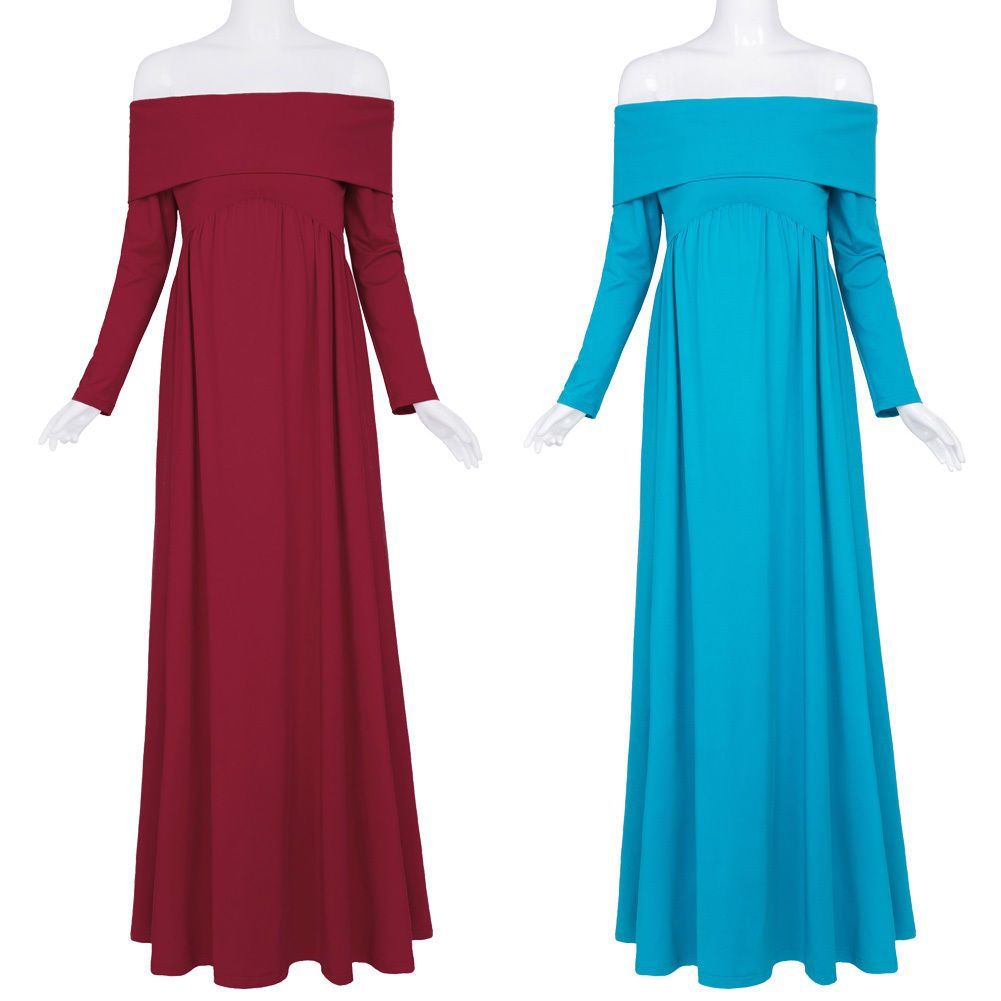 Kate kasin fashion sundress long sleeve off shoulder long dress