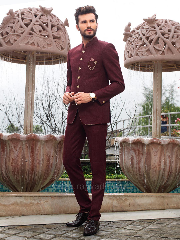 Stylish terry rayon fabric jodhpuri rajwadi menswear