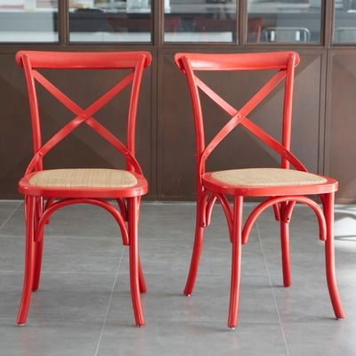 lot de 2 chaises new bistrot pas cher