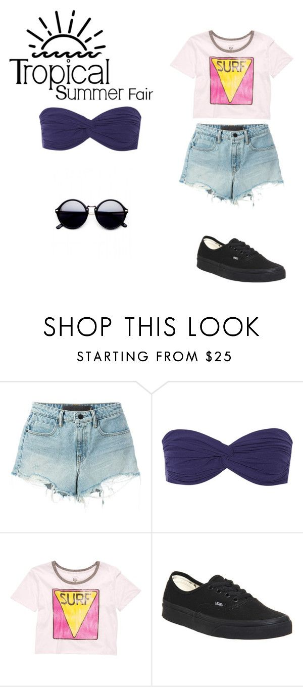 """Summer Fair"" by coolpineapple-765 ❤ liked on Polyvore featuring Alexander Wang, Norma Kamali, Billabong and Vans"