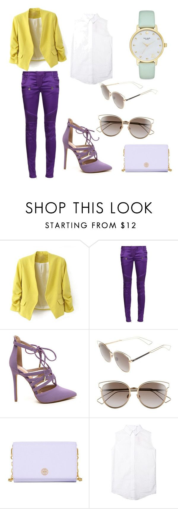 """""""25.1"""" by tess1204 on Polyvore featuring Balmain, Christian Dior, Tory Burch and Kate Spade"""