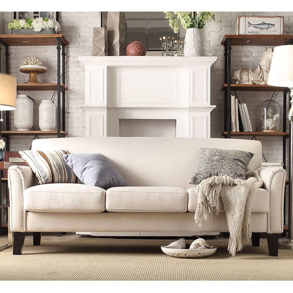 Uptown Modern Sofa By INSPIRE Q Classic (Grey Linen