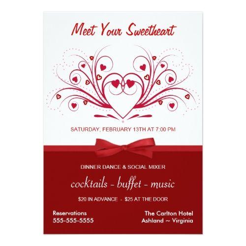 Valentine S Day Dinner Dance Business Style Invitation