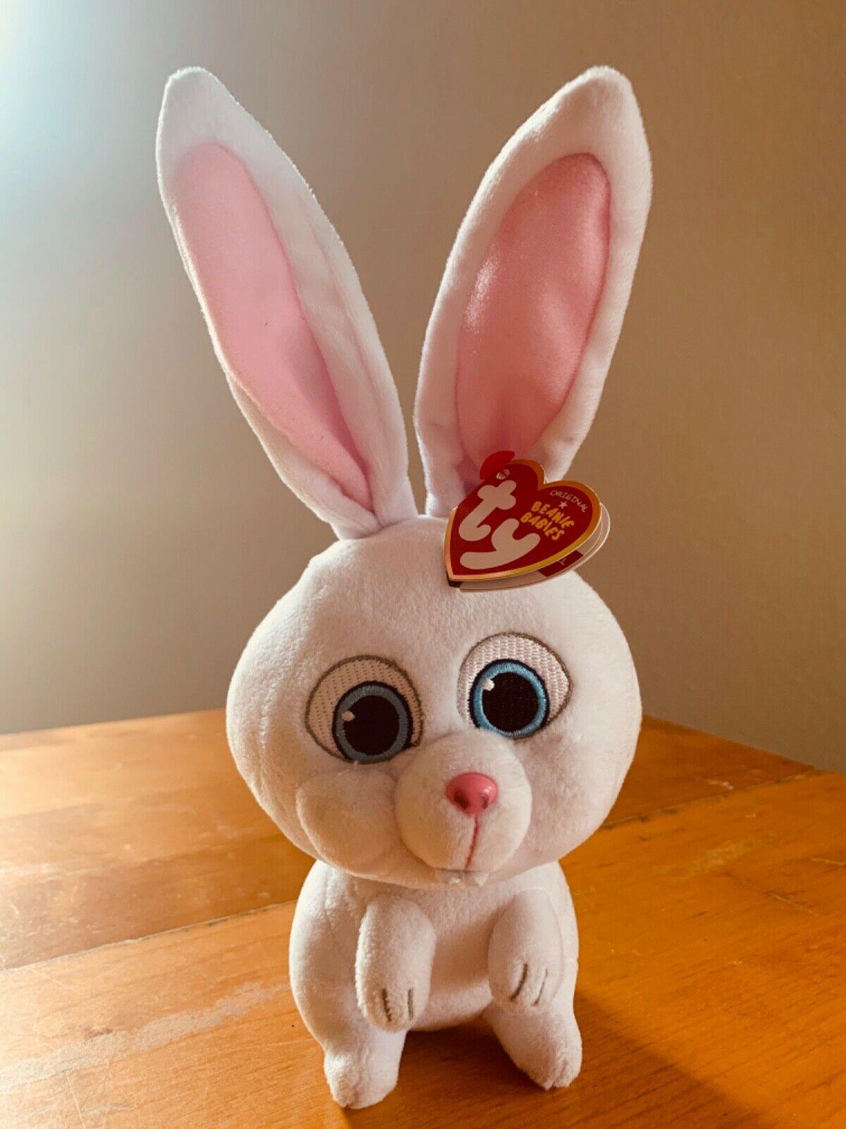 Ty Beanie Baby 10 Snowball Rabbit The Secret Life Of Pets Plush