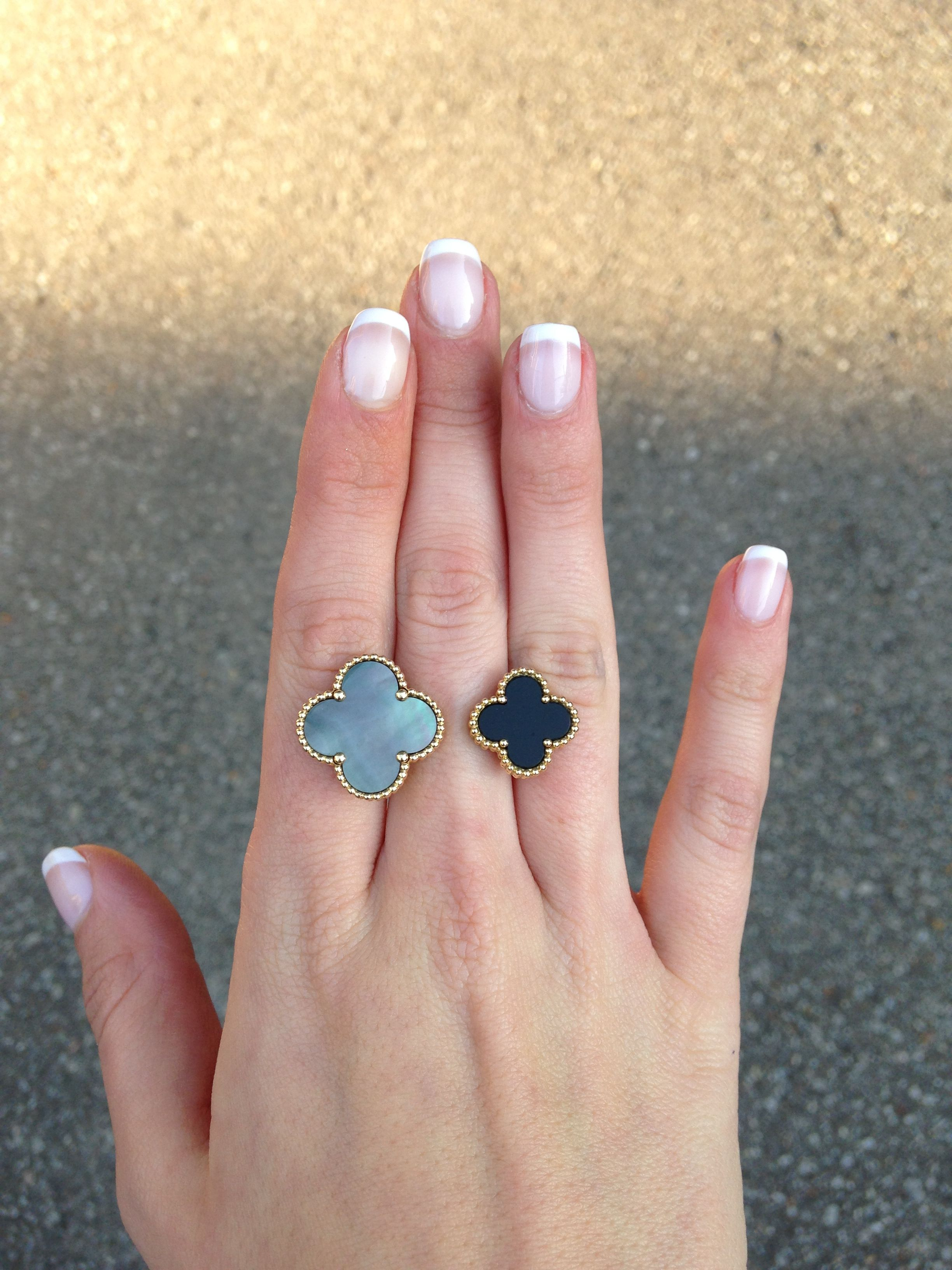 Van Cleef and Arpels magic Alhambra between the finger ring- onyx ...