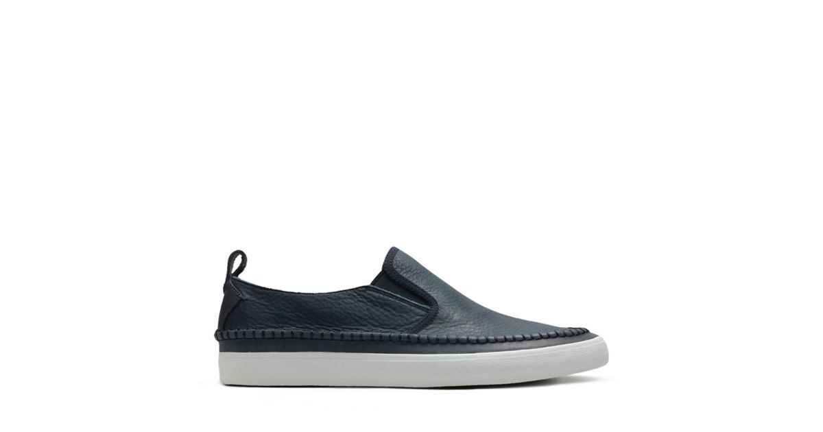 dde40da82abd2 Kessell Slip Navy Leather - Men's Loafers and Slip-Ons - Clarks® Shoes  Official Site | Clarks