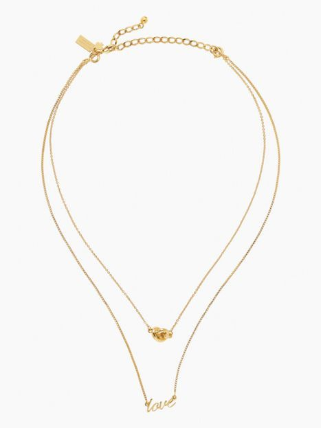 b06a5a4ceb Kate Spade Multi Pendant Love and Knot Necklace   shopping cart ...