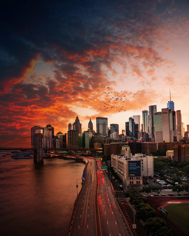 New York City Sunset Wallpaper