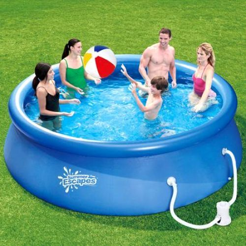 Summer Escapes 12' Quick Set Ring Pool with Pump with GFCI (144L x