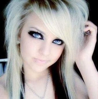 Blonde Emo Hair medium-hairstyles
