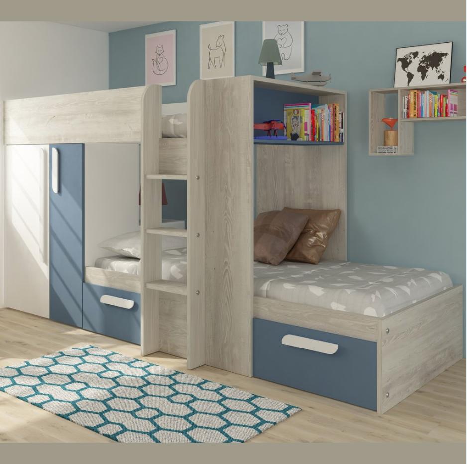 Trasman Barca Bunk Bed With Wardrobe Storage Bed With Wardrobe