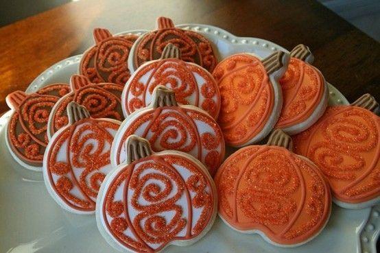 Halloween Pumpkin Cookies by Whoopi Cookies - Halloween - halloween pumpkin cookies decorating