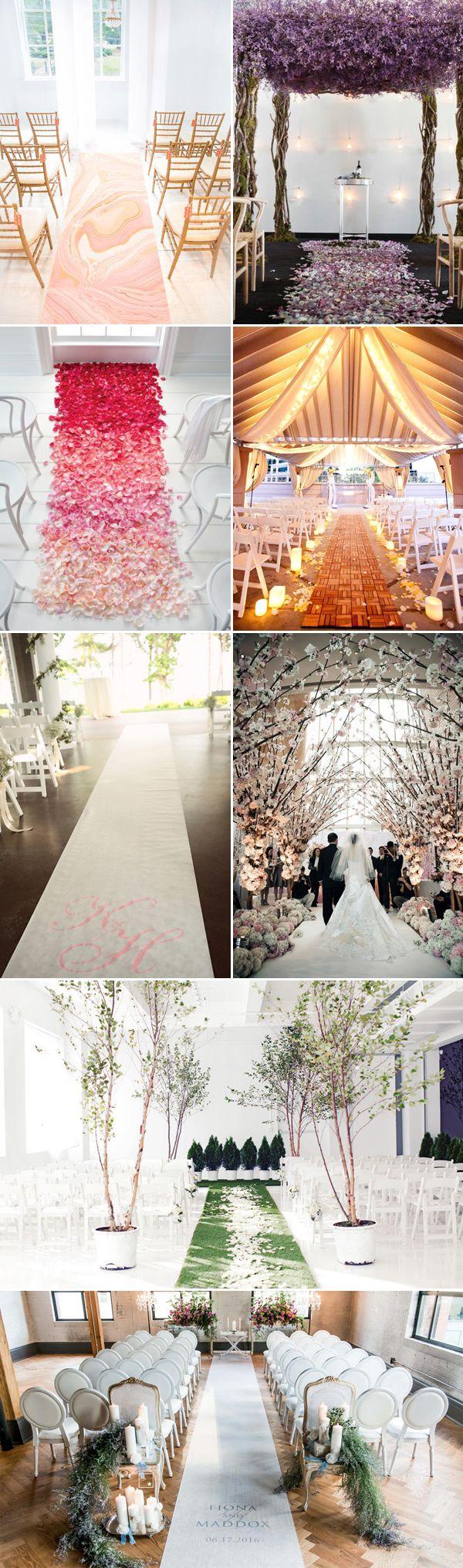Wedding aisle decor ideas diy   Creative Wedding Aisle Runners  Wedding aisle runners Indoor