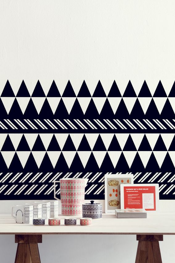 {DIY: wall borders} love the bold geometric design