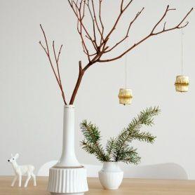 Weihnachtliche Deko aus Pralinenkapseln von azurweiss