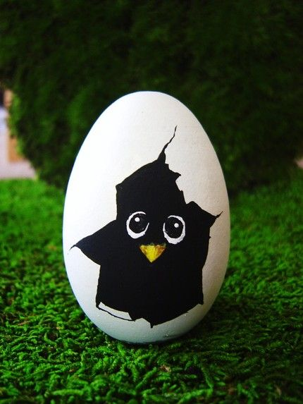 Easter basket gift ideas you need one of these funky eggs for your easter basket a chick peaking out negle Images