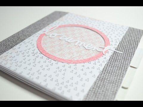 Scrapbook Mini Album Modern Basteln Mit Papier Deutsch Minialben
