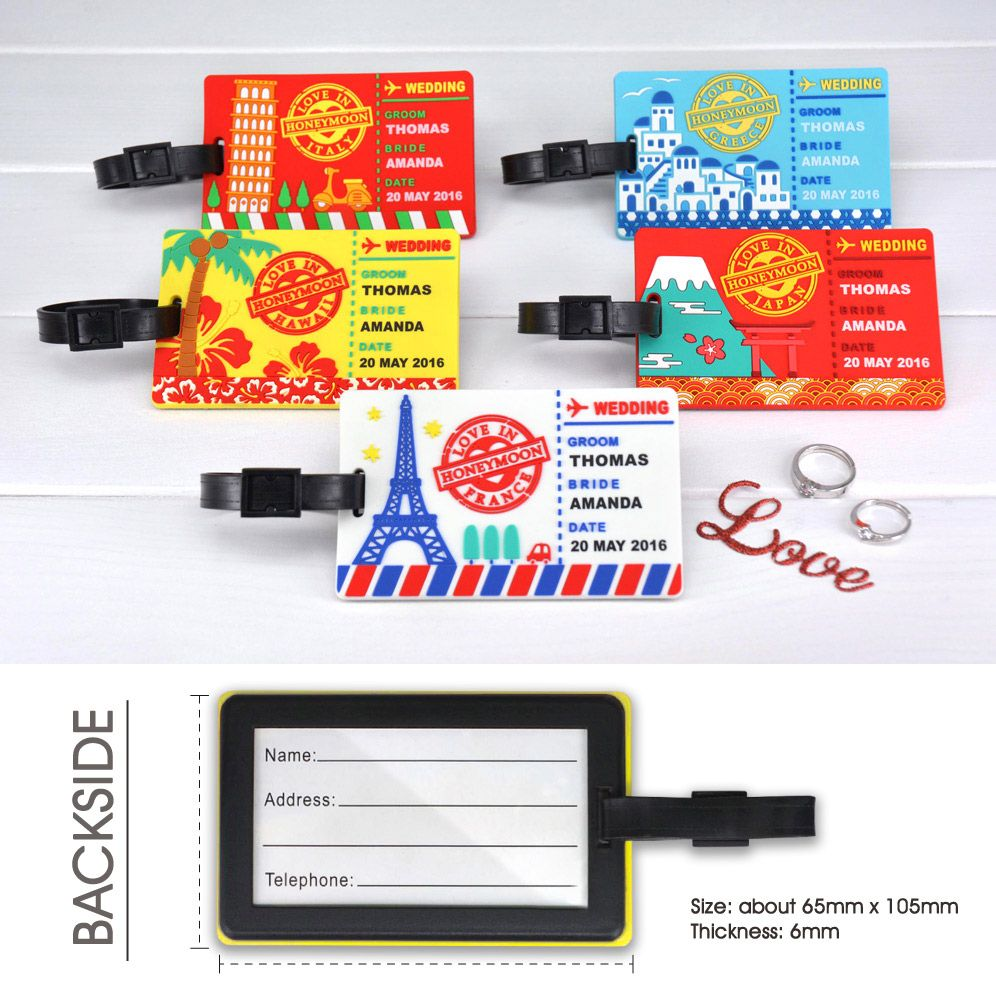 Honeymoon Travel Luggage Tags | Promotional Products Supplier - Jin ...