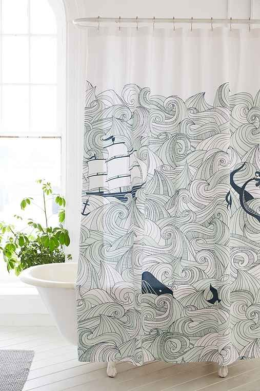 Urban Outfitters Whale Shower Curtain February 2017