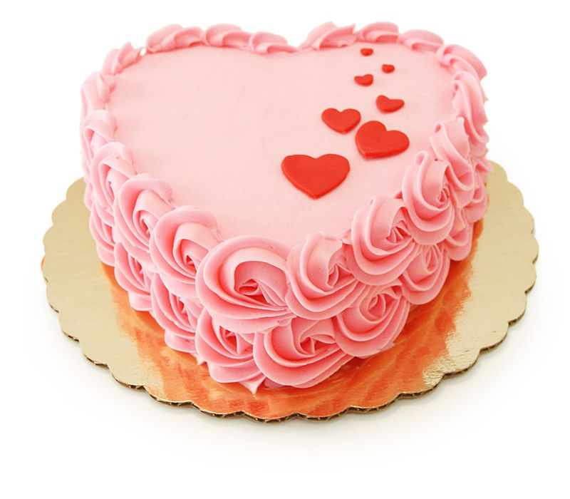 Just In Time For Valentines Day A Pink Heart Shaped Cake