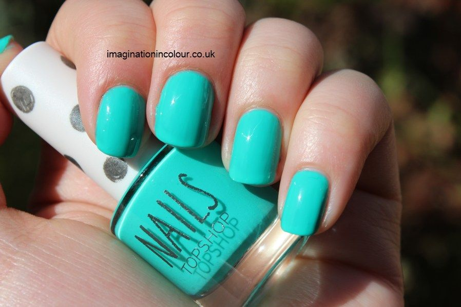 Topshop Green Room Nails Turquoise Nails Bright Nail Polish
