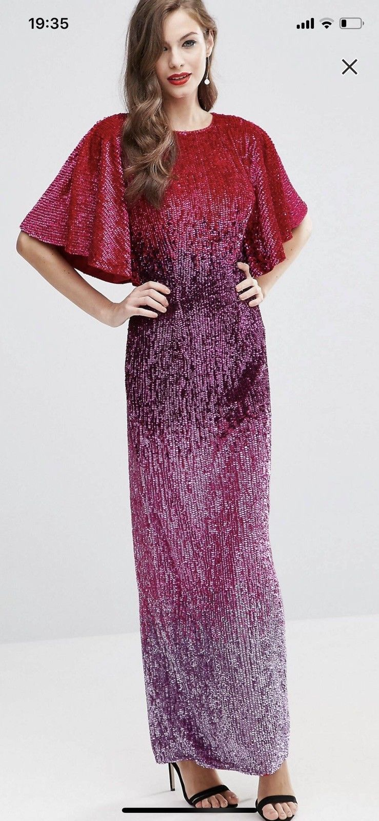Awesome Awesome ASOS RED CARPET Sequin Embellished Ombre Maxi Dress ...
