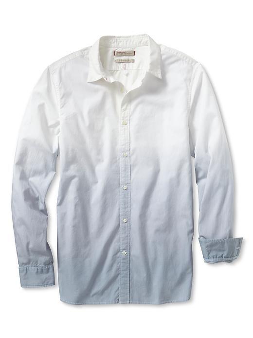 BANANA REPUBLIC* Heritage Dip Dye Shirt, White | Wish List