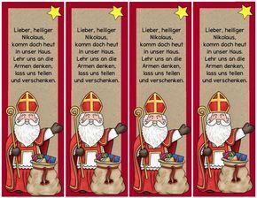 Eine Kleinigkeit für den Nikolaustag Diese Lesezeichen werden meine Schüler am Nikolaustag zusammen mit einer kleinen Süßigkeit bekommen...