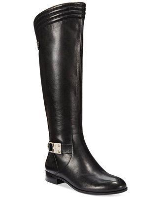 9d5a58a9427 Anne Klein Kaydon Wide Calf Riding Boots - Boots - Shoes - Macy s ...