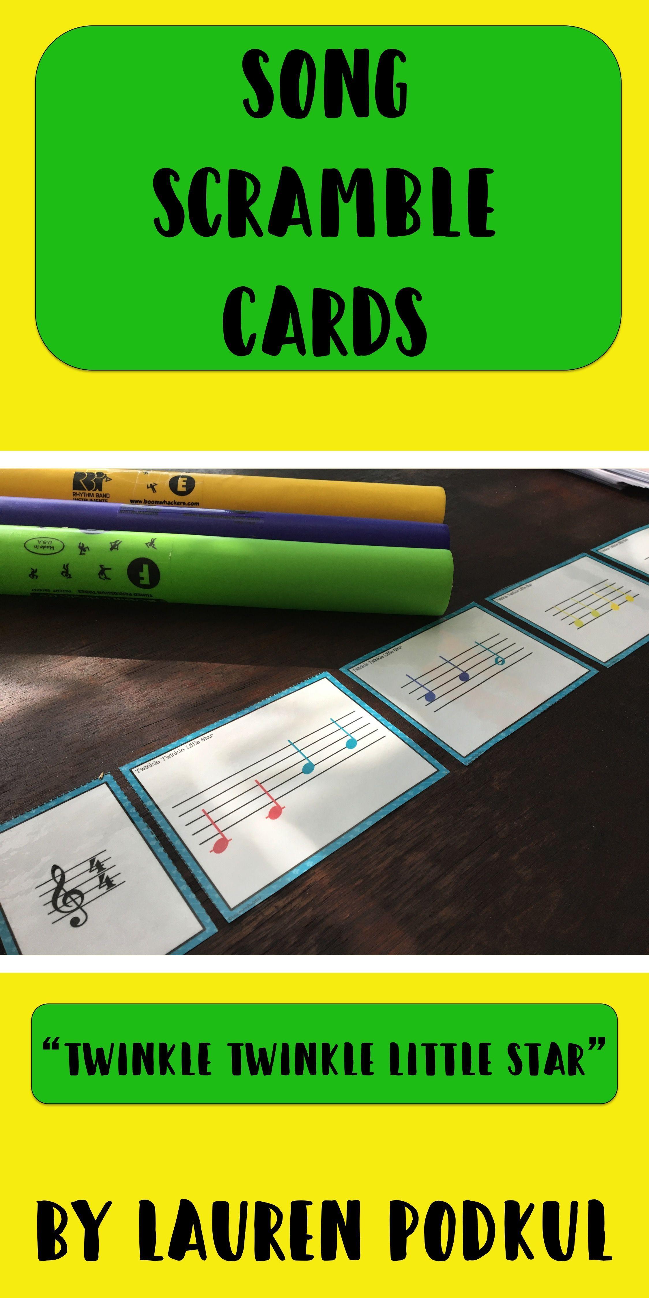 Song Scramble Cards