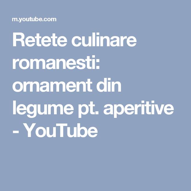Retete culinare romanesti: ornament din legume pt. aperitive - YouTube